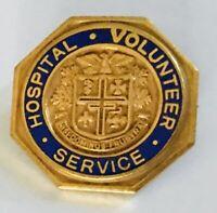 Hospital Volunteer Service Nisi Dominus Frustra Pin Badge Rare Vintage (R8)