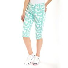 New Green Lamb Ladies Thora Pedal Pushers Cropped Trousers Golf Pants
