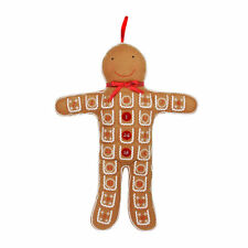 Gisela Graham Christmas Gingerbread Man Advent Calendar - Christmas Gift Idea