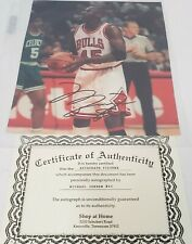 Michael Jordan 8x10 Photo Autographed #45 Jersey Rare COA