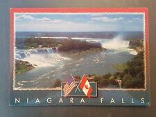 Vintage Niagara falls Ontario / Buffalo New York Canada USA Postcard