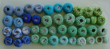 Huge Lot Vintage Tatting Crochet Variegated Solid Blue Greens Thread Lily Star+