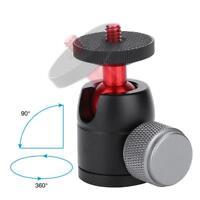 "VELEDGE Aluminum Alloy 360° Swivel Mini Ball Head 1/4"" Screw Mount for Camera LJ"