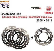 KIT DISCHI FRENO ANTERIORE 4MM E POSTERIORE STEP2 PER YAMAHA TMAX T-MAX 500 2010