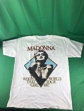 Vintage 1987 Madonna Who's That Girl World Tour Tee SZ Large (READ DESCRIPTION)