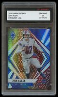 JOSH ALLEN 2020 / '20 PANINI PHOENIX FIRE BURST 1ST GRADED 10 BUFFALO BILLS CARD