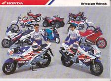 1993 HONDA Bike Australian 8p Brochure ST CBR VFR CB DOMINATOR XR XL QR CT TRX