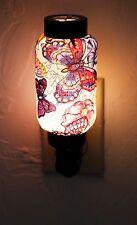 NWT Colorful Happy Butterflies Oriental Lantern Night Light Lamp Nightlight