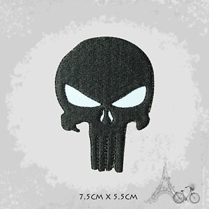 Punisher Skull Logo Movie Iron On Patch Sew On Embroidered Patch Badge