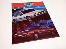 1988 Chevrolet Beretta Information Sheet Brochure - French