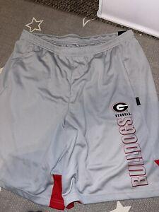 Nike Dri Fit Georgia Bulldogs On Field Apparel Gray Football Shorts Sz X-Large