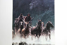 NEW RARE WELLS FARGO HORSES RUNNING POSTER ARMED COURIER WESTERN STAGECOACH BANK