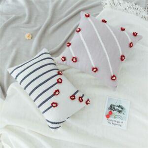 3D Flower Cushion Pillow Case Cover Throw Waist Pillowcase Sofa Bed Home Decor