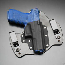IWB Gun Holster for Concealed Carry Black Leather for Glock 21 45ACP