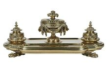 French Brass Inkwell