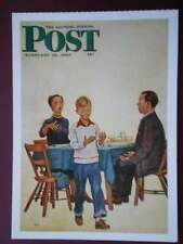 POSTCARD ADVERT SATURDAY EVENING POST F/PAGE  DATED 18 FEB 1950  - THE JOY OF PA