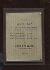 1956 United Civic Council Juluis McCoy Achievement Plaque