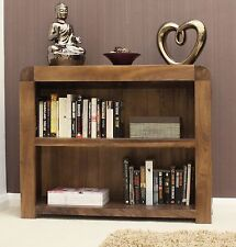 Strathmore solid walnut home furniture low living room office bookcase
