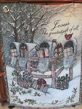 The Greatest Gift Tapestry Throw by Susan Winget