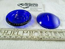 1 Yankee Metal Products BLUE glass lens 2 1/2