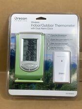 Oregon Scientific Wireless Indoor/Outdoor Digital Thermometer Dual Alarm Clocks