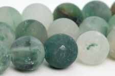 10MM Natural Matte Green Calcedony Beads Grade AAA Round Loose Beads 16""