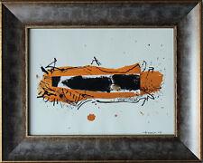 John Harrison Levee (1924-2017) technique mixte de 2005 sur papier 21 x 28 cm