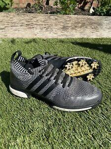 Adidas Men Golf Shoes F33629 Knit 10-Spike Ventilation PU Free EMS / Black