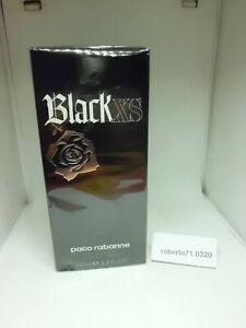 Paco Rabanne Men Man Black XS Eau de Toilette ML 100 Spray Rare New