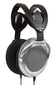 Koss UR40 DJ Light Weight Titanium Coat Big Sound Headphones Life Time Warranty