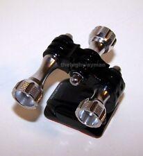 Gopro Hero 7/6/5/4/3/2 and 3+Plus Helmet Front Mount with silver aluminum screws