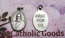 Saint St. Francis De Sales / Pray for Us - Italian Silver tone Ox 1 inch Medal