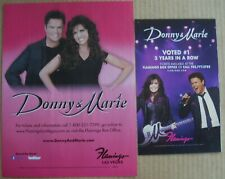 2 Donny & Marie Flamingo Hotel Las Vegas Show Ads Voted #1 3 Years in Row Osmond