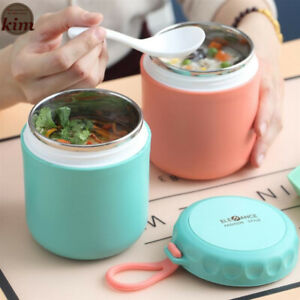 Portable Thermos Lunch Box 304Stainless Steel Container Food Insulation Soup Cup