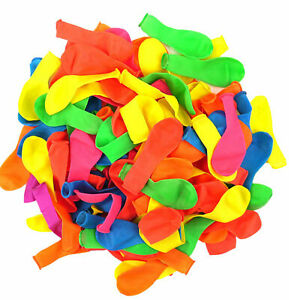 100 Water Balloons Bombs Outdoor Birthday party Fast Fill Summer Fun Filler Toys