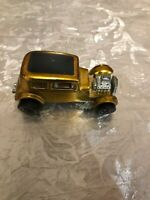 Hot Wheels~RedLine on tires~ Gold w/Black Top Color~ Classic 32 Ford Vicky~1968