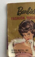 1963 Barbies Fashion Magazine Mini Foldout for doll-sku 008922