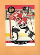 HOCKEY CARDS-90/91 PRO SET #598 ED BELFOUR ROOKIE CARD