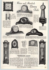 1957 PAPER AD Herschede Hall Floor Grabdfather Clock The Petite Colonial Style