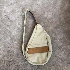 LL BEAN Canvas Leather Ameribag Saddle Messenger Shoulder Bag Vintage