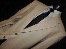 Virsini men's 100% raw Silk light Brown sports jacket coat size 46 R
