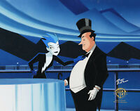 Batman Animated Series Original Cel-Livewire/Penguin-Girls Night Out-Singed Timm