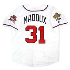 Greg Maddux Atlanta Braves 1995 World Series Home White Jersey Men's (M-2XL)