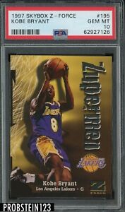 1997 Skybox Z-Force #195 Kobe Bryant Los Angeles Lakers HOF PSA 10 GEM MINT