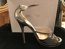 Jimmy Choo Ladies Silver shoes size 7/40 RRP £475. Perfect Party Accessory