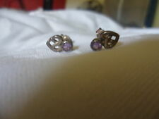 silver (925) and amethyst celtic design earrings