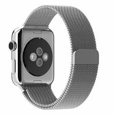 SILVER Milanese Stainless Steel Band Strap for Apple Watch 38MM 40MM 42MM & 44MM