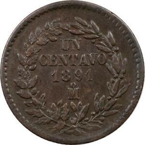 MEXICO - CENTAVO - 1891 MO - COPPER