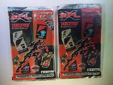 Lot of (2) 2001 Artbox XFL Tabletop Football Trading Card Packs (4 per Pack)