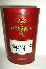 MAXIM'S DE PARIS OVAL COFFEE EMPTY TIN